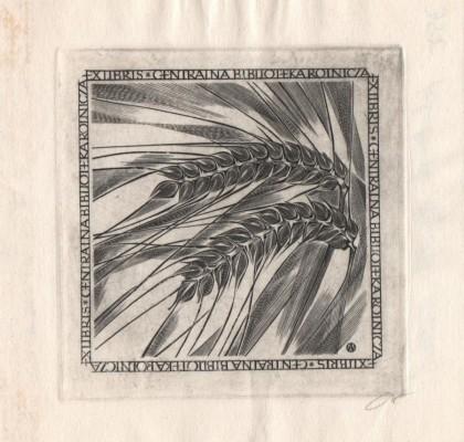 Exlibris Centralna Biblioteka Rolnicza