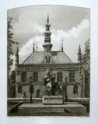 Ratusz Staromiejski  i pomnik Heweliusza